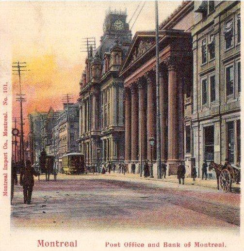 Bureau de poste et Banque de Montréal / Post Office and Bank of Montreal