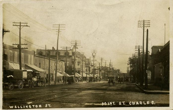 Point St. Charles -- Rue Wellington, vers 1910 / Wellington Street, c.1910