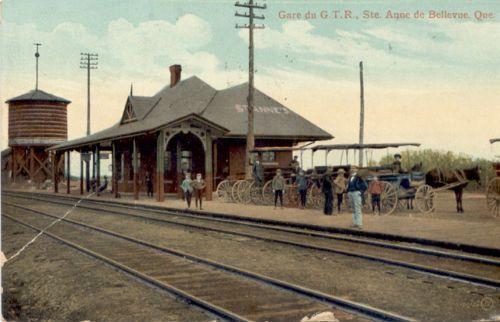 Gare / Station, Sainte-Anne-de-Bellevue, vers 1900 / c.1900.