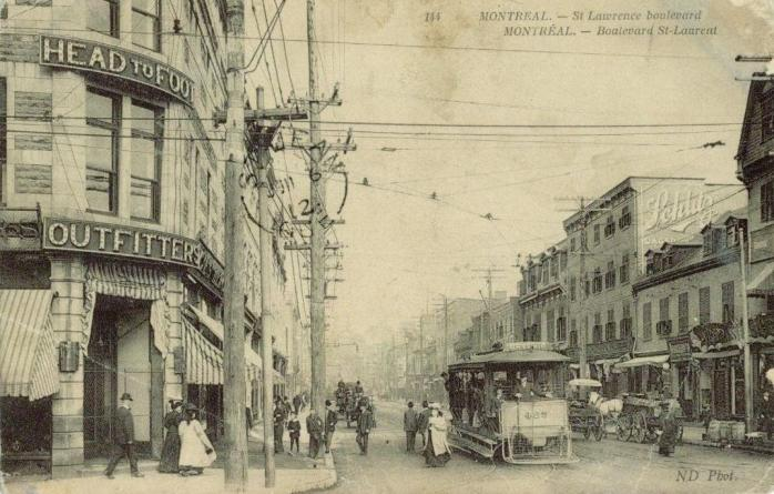 Boulevard Saint-Laurent, vers 1908 / St. Lawrence Boulevard (The Main), c. 1908