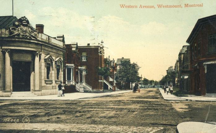 Avenue Western / Western Avenue, Westmount, 1906.