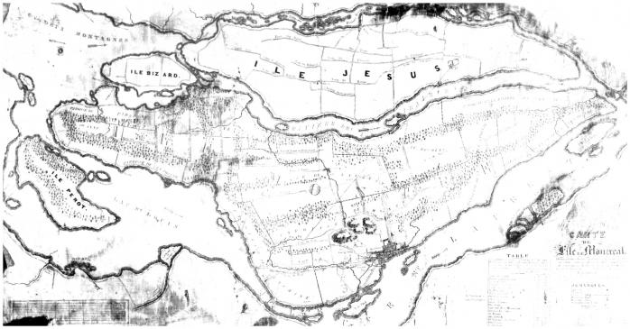 Carte de l'île de Montréal (1834)