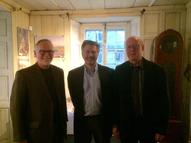 L to R: Jacques Archambault, Executive Director of Canadian Heritage of Quebec; QAHN President Simon Jacobs; and QAHN Director Rick Smith. (Photo - courtesy of Rick Smith)