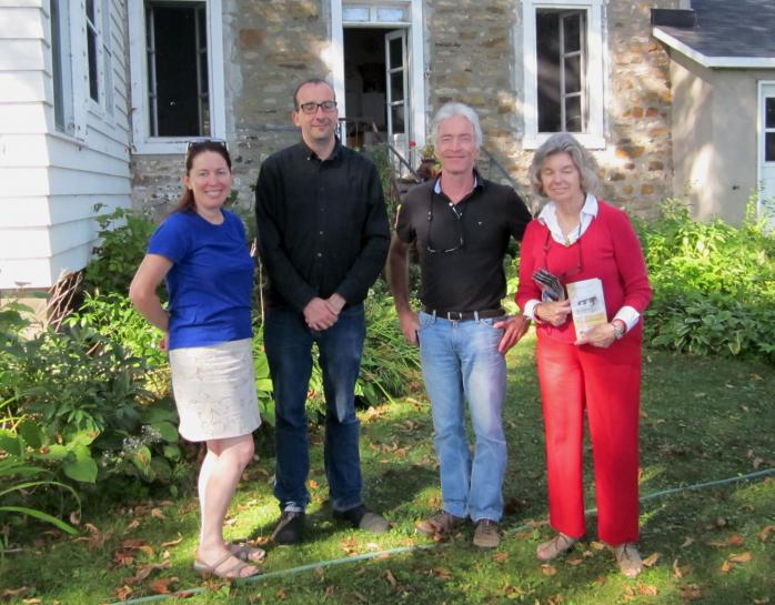 Part of the Housewife Heroines project team in Beaconsfield - Lorraine O'Donnell, Patrick Donovan, Dwane Wilkin and Barbara Barclay of the Beaurepaire-Beaconsfield Historical Society. (Photo - Sandra Stock)