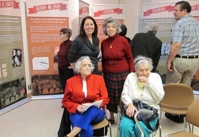 Opening Reception, QAHN's Housewife Heroines Exhibition, Beaconsfield Public Library (Photo - Sandra Stock)