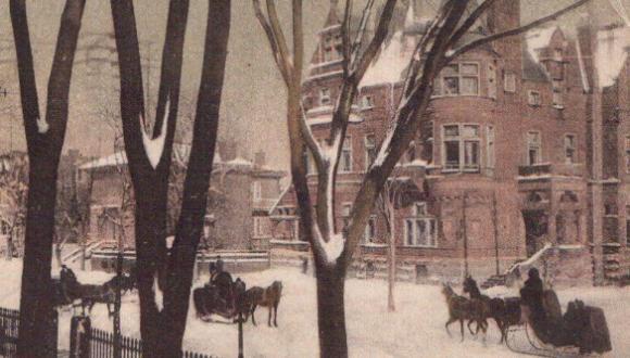 Rue Sherbrooke en hiver / Sherbrooke Street in Winter
