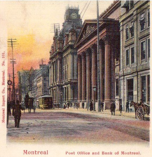 bureau de poste et banque de montr al post office and bank of montreal montreal mosaic. Black Bedroom Furniture Sets. Home Design Ideas