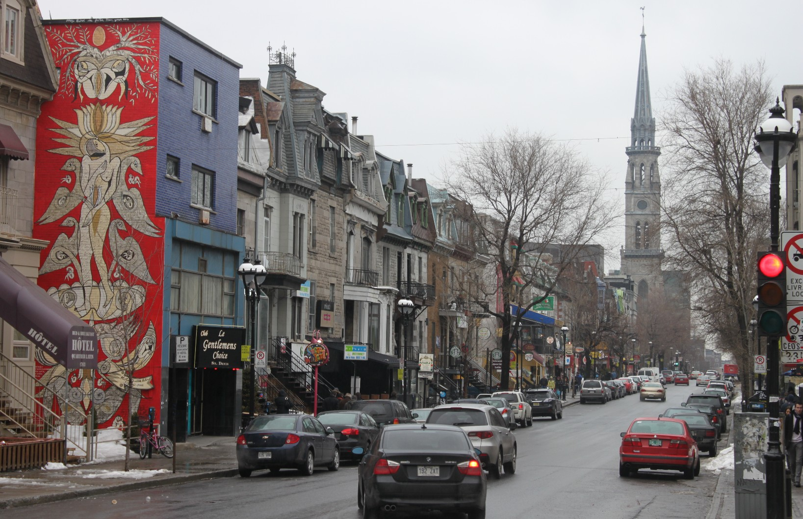 Rue saint denis saint denis street montreal mosaic for Meubles montreal st denis
