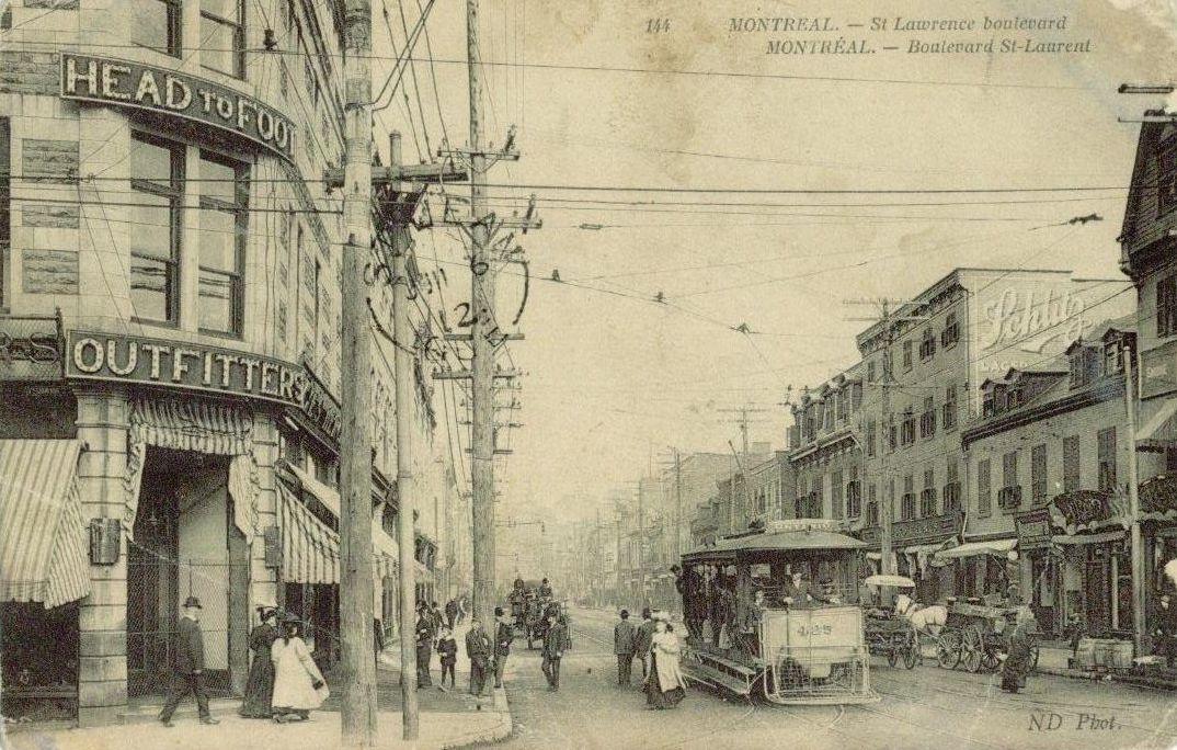 Boulevard saint laurent vers 1908 st lawrence for Meuble montreal st laurent